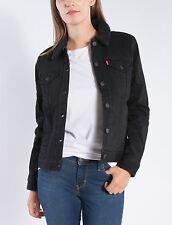 New Levi's Women's Sherpa Trucker Jacket COLOR BLACK Sizes L XL Boyfriend