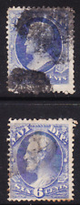US Scott O36 O38 old 2c 6c Navy Dept official stamps U/F-VF CV $50