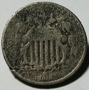 1868 United States Shield Nickel - Good - Damage