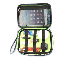Bubm GRIGIO BAG TRAVEL ORGANIZER maniglia rimovibile Fotocamera CARICABATTERIE cavi iPad Mini