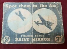 WW2 DAILY MIRROR SPOT THEM AIRCRAFT BOOKLET