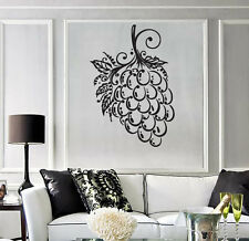 Wall Sticker Grapes Bunch Berry Leaves Isabella Muscat Vinyl Decal (n500)