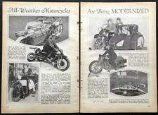 1930 Motorcycle pictorial Opel Rocket powered / Ascot-Pullin / O.E.C. Blackburne