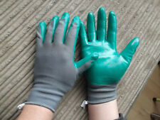 """3 Pairs Gardening Gloves Seed and Weed Gardeners """" Medium+""""  Green Colour"""