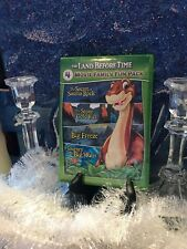 The Land Before Time DVD 4 Movie Family Fun Pack. Cool Green Case! Like New!