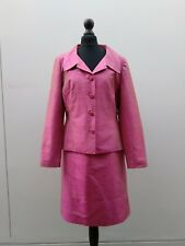 CONDICI Pink Fushia Silk Skirt Suit Size 10