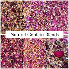 Natural Biodegradable Wedding Confetti Dried Flower Petals, Red Pink Ivory 1L