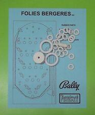 1965 Bally Folies Bergeres pinball / bingo rubber ring kit