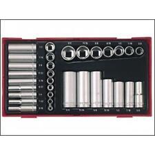 Teng TTAF32 1/4″ & 3/8″ Drive AF (Imperial) Socket Set in Tool Box Module Tray
