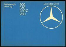 Mercedes Benz Hand & Reparaturbuch Typen 200 230 230C 250 A-Z mit Anbauanweisung