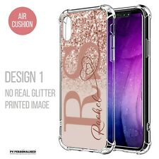 PERSONALISED NAME INITIALS PHONE CASE SILICONE COVER FOR APPLE IPHONE 12 11 7 XR