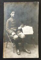 OTTOMAN EMPIRE SOLDIER REAL PHOTO POSTCARD - circa 1910