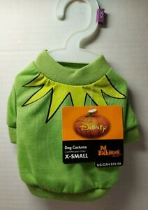 NWT Disney Pet Costume Small Muppets Kermit Dog clothes Halloween Size X Small