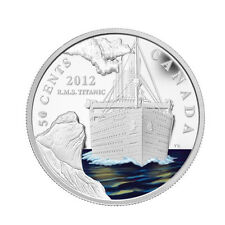 2012 50-CENT SILVER PLATED COIN - RMS TITANIC - CANADA