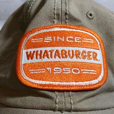 Whataburger Since 1950 Tan Adjustable Cap Hat