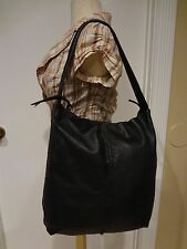 **STUNNING ** CHRISTOPHER KON PURSE HAND SHOULDER BAG BLACK LEATHER HOBO LARGE