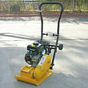 79cc 2000Lbs Gas Walk Behind Vibratory Plate Compactor Asphalt Soil Dirt Rammer