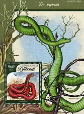 Djibouti 2016 MNH Snakes 1v S/S Reptiles Cobras Red Spitting Cobra