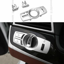 3x Chrome HeadLight Lamp Button Sequin Cover Trim For BMW 7 Series F01 F02 09-15