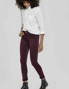 JOULES Monroe Super Skinny Jeans Burgundy Sz 8 10 14 18 20 RP£59.95 FreeUKP&P