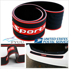 Car Rear Guard Bumper Protector Anti-Scratch Strip Rubber Sport Style