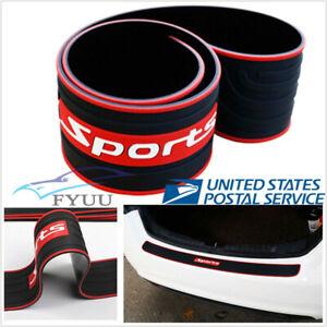 Car Rear Guard Bumper Protector Anti-Scratch Strip Rubber Sport Style