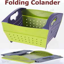 Collapsible Colander Fozzils Snapfold Strainer Folding Camping Sink Drainer New