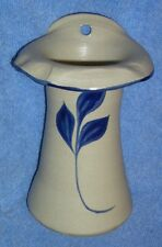 Williamsburg Pottery WPF Wall Hanging Fireplace Matches Holder Vase Cobalt Blue