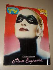 TV SORRISI CANZONI=1987/42=MINA 'SUPREMA'=FIORDALISO=BURT LANCASTER=ALAIN DELON