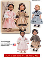 SEWING PATTERN! MAKE DOLL CLOTHES~CIVIL WAR STYLE! FIT AMERICAN GIRL ADDY~CECILE