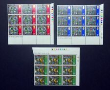 GB QEII 1971 Christmas SG894-896 Traffic Light, Marginal Blocks, MNH. (Ref:A2r)