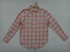 Levis Ajuste 'BOYFRIEND' blusa mujer talla s dos bolsillo tela escocesa Rosada