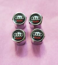Audi Chrome Dust Caps A3 A4 A5 A6 A7 Q3 Q5 Q7 TT Convertible RS3 RS4 RS6 S Line