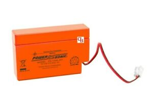 12 V 0.8Ah POWERSONIC PS-1208VO Sealed Lead Acid SLA Rechargeable Battery