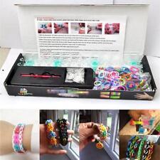 Hot!Colourful Rainbow Loom Rubber Bands Bracelet Making Kit Set DIY Craft gift