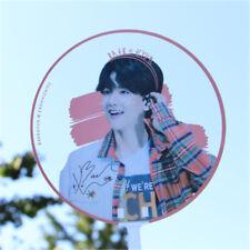 Portable KPOP EXO BAEKHYUN PVC Transparent Hand Fan Summer Handmade Cute