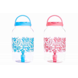 1 x Bello 4.4L DRINKS DISPENSER 2 ASSORTED COLOURS WITH TAP PUNCH