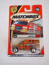 2001 Matchbox #26 Ultra Med-AIarm Krankenwagen Rad Varation