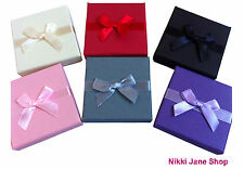 Personalised Gift Box Necklace Earrings - Bridesmaid Flower Girl Thank You