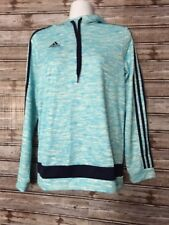 Adidas climacool Hoodie Large sweatshirt  Baby/blue Striped NWOT