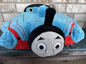"Thomas The Tank Engine Pillow Pets Pee-wee Train Plush  17"" Blue"