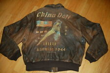 Vintage AVIREX Type A-2 CHINA DOLL Kunming 1944 FLYING TIGERS Flight Jacket XL