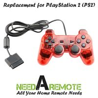 Red Twin Shock Game Controller Joypad Pad for Sony PS2 Playstation 2