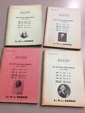 Joseph Haydn, The Fifty-Two Piano Sonatas, Lea Pocket Score in 4 Volumes
