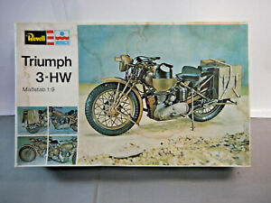 Revell H-2203 Triumph 3-HW Motorcycle Model Construction Set 1:9 (W7)
