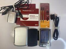 Palm Palmone Tungsten T5 Handheld Pda Organizer Bluetooth W/ Case & Accessories