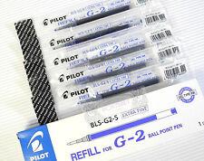 FREE SHIP 5pcs Pilot BLS-G2-5 ball point pen refill Gel Type ink Blue