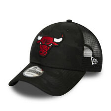 NEW ERA CHICAGO BULLS TRUCKER CAP.9FORTY A FRAME BLACK CAMO BASEBALL HAT W20