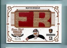 MARTIN BRODEUR 2017 IN THE GAME ITG STICKWORK GAME USED GOALIE STICK /25