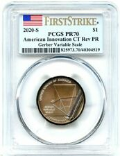 2020-S American Innovation Rev Proof Dollar Connecticut PCGS PR-70 First Strike!